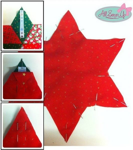 How to sew a fabric star for your Christmas tree