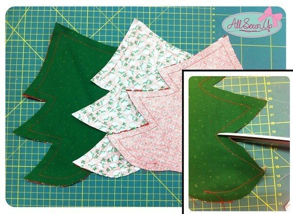 How to make a Christmas tree from fabric