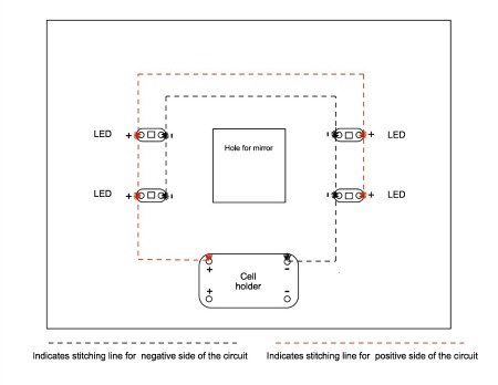 Circuit for e-textiles
