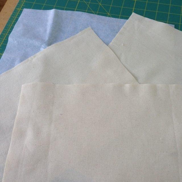 Prepare fabric for free machine stitch