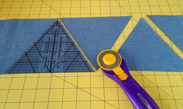 Patchwork projects using triangles