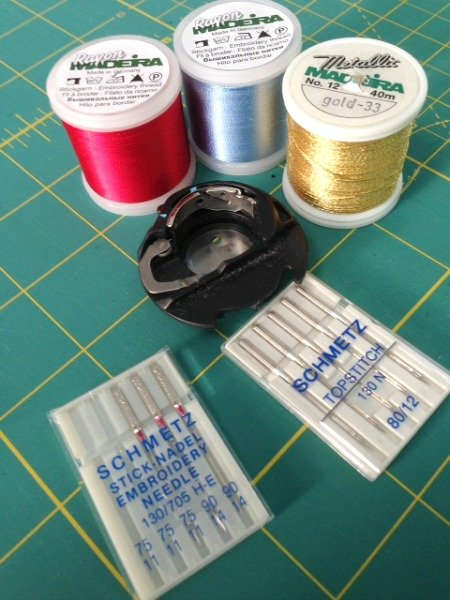 Threads for machine embroidery