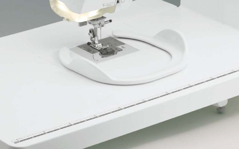 Keep fabric taut for free motion stitching
