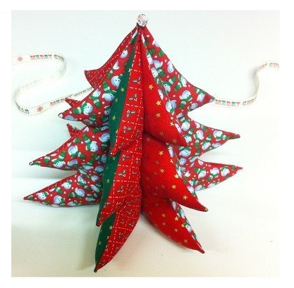 How to sew a fabric Christmas tree