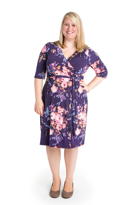 Appleton wrap dress pattern by Cashmerette