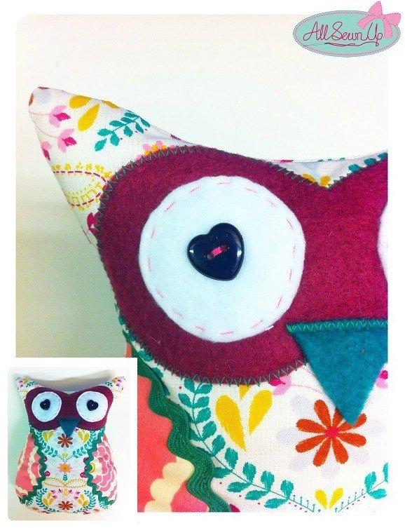 Owl themed cushion tutorial