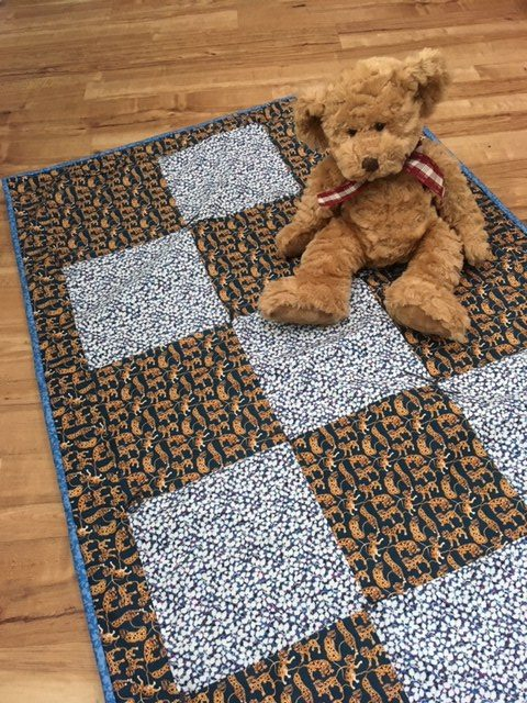 How to sew an easy quilt for a baby