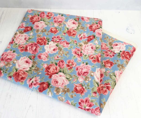 Cath Kidston style rose canvas fabric