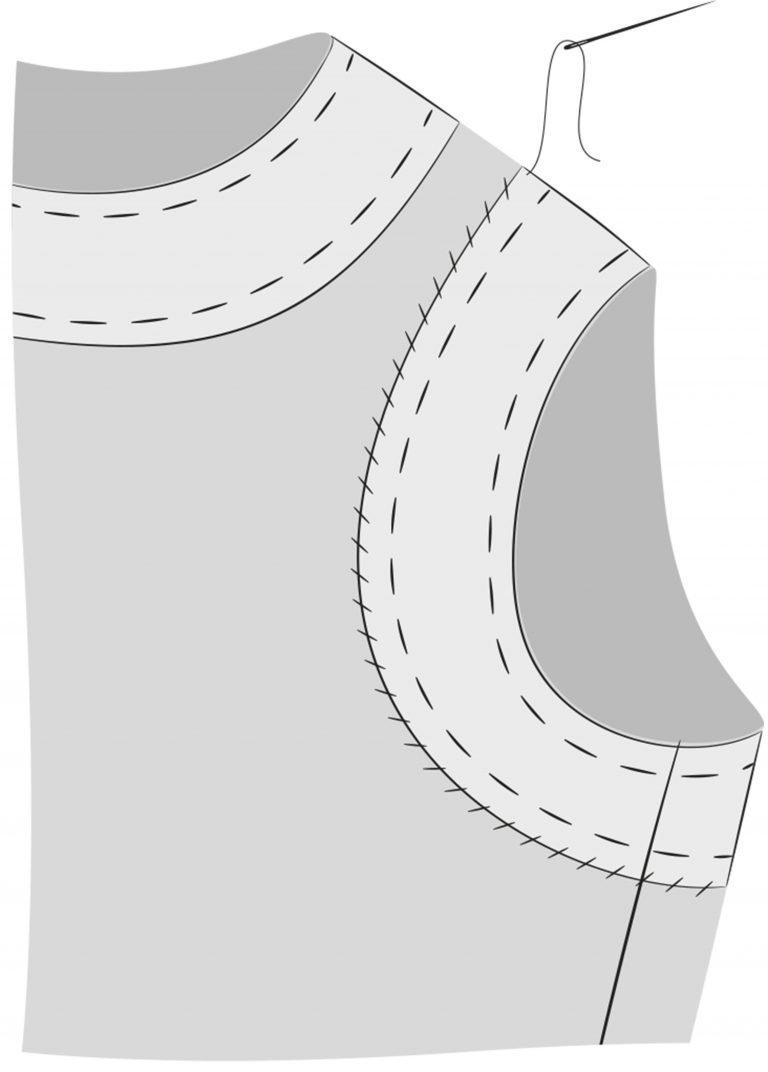 How to line a sleeveless dress