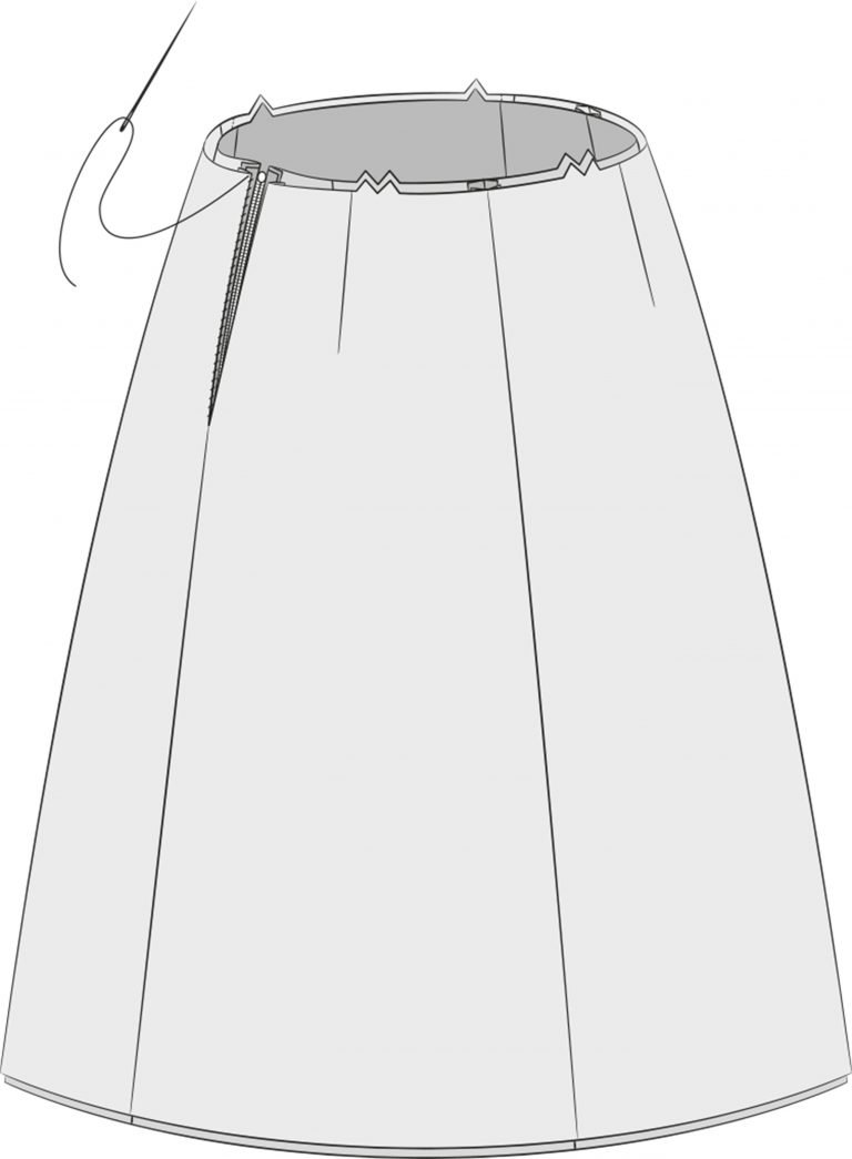 Methods of lining a skirt