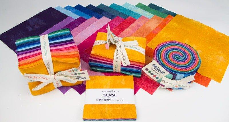 Grunge fabrics precuts