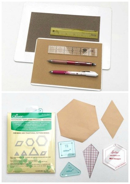 Tools for hand piecing blocks