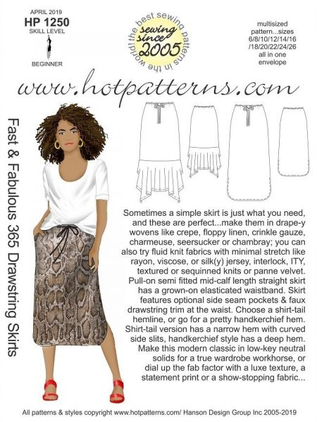 Simple summer skirt pattern
