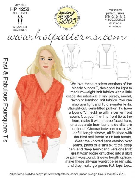 T-shirt sewing pattern to buy