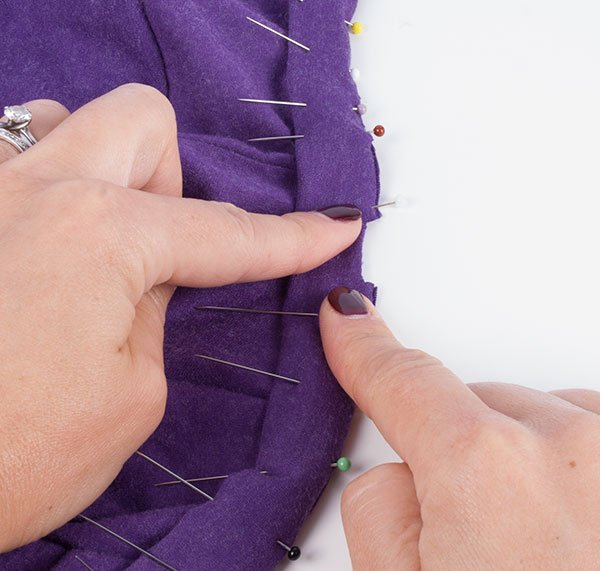 Sewing clothes with a serger