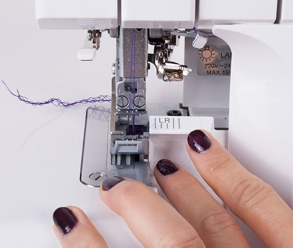 Set up an overlocker for sewing