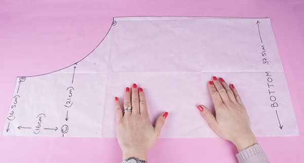 Drafting a sewing pattern