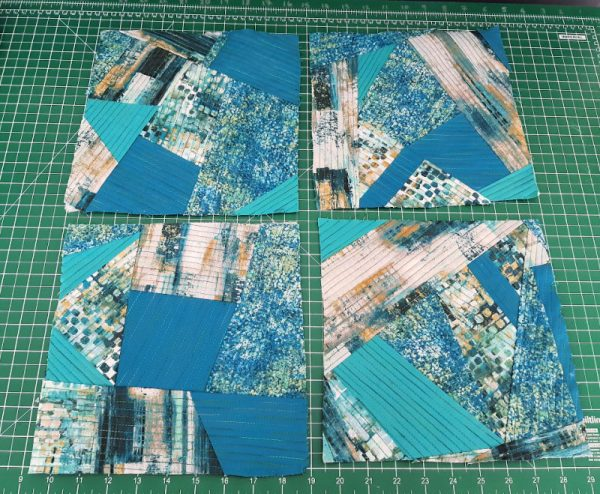 Improv patchwork quilt blocks