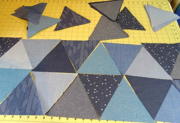 How to patchwork triangles