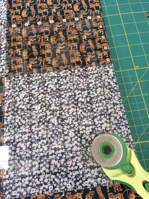 Squaring up the edges of a quilt