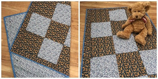 Easy baby quilt to sew for beginners