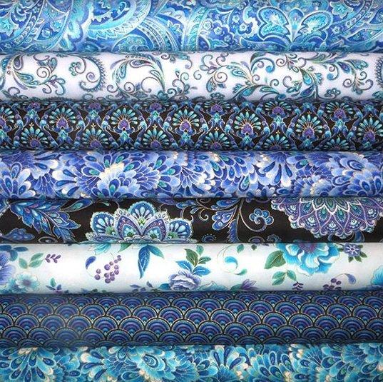 Oriental style patchwork fabrics
