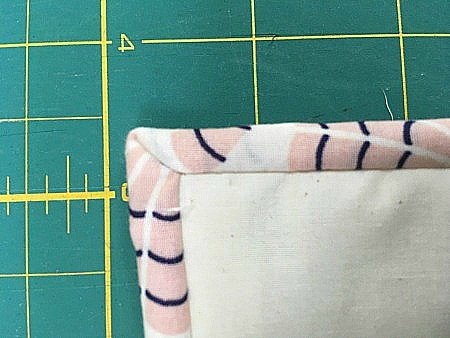 How to sew a neat mitred corner