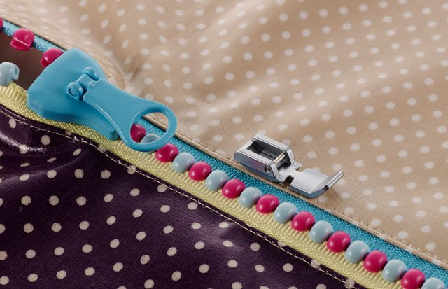Zip foot for a Brother sewing machine