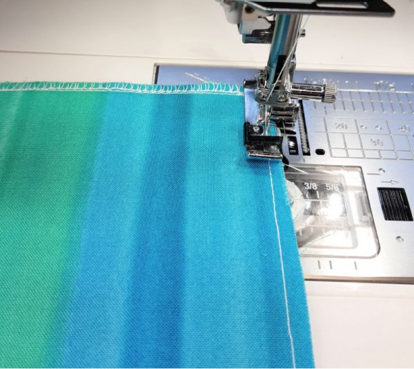 How to protect raw edges with an overlock stitch