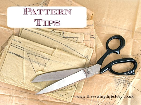 Sewing pattern tips