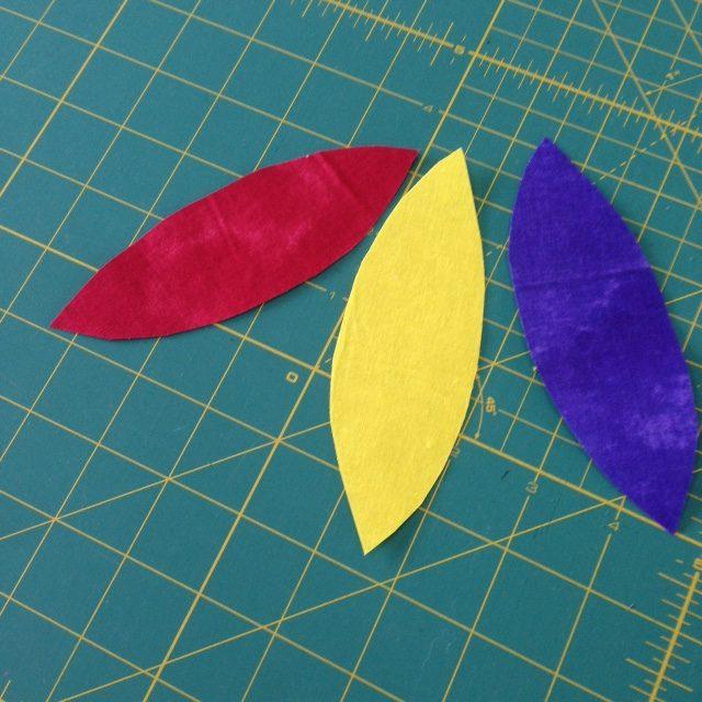 Make petal shapes for a cushion