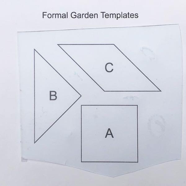 Templates for formal garden block