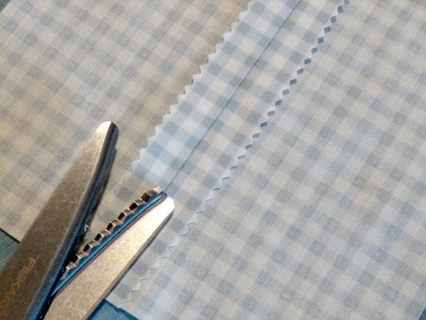 Using picking shears to finish a seam