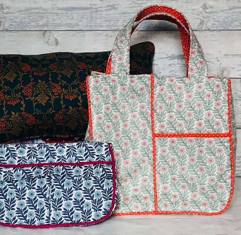 Piping on bags and cushions