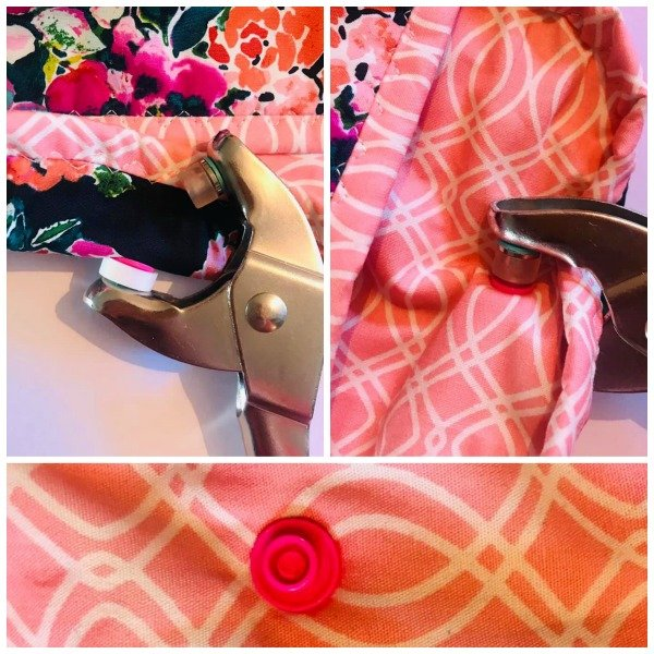 Using plastic snaps in sewing