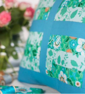 Quilted patchwork cushion project