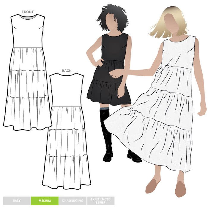 dresses to sew with double gauze