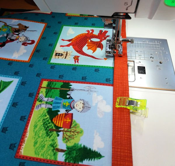 Sew binding to a cushion cover
