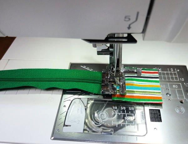 Sew a zipper tab