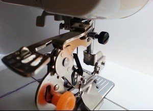 Fitting a ruffler foot to a sewing machine