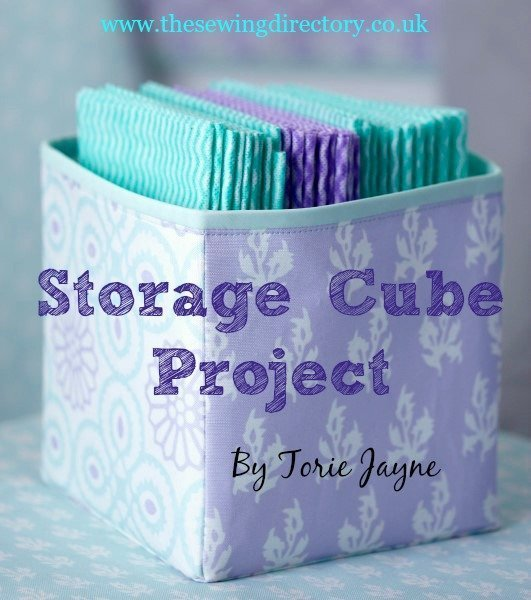 Free tutorial for a fabric storage cube