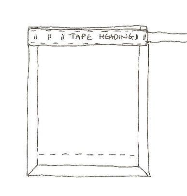 Curtain pencil pleat tape