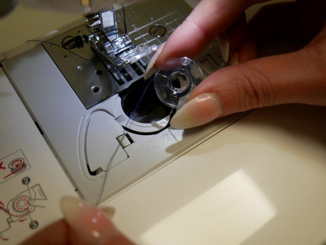 Set up a sewing machine