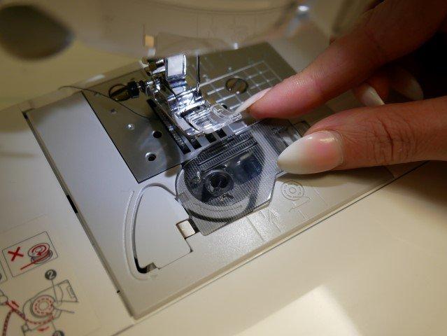 Bobbin placed into a machine