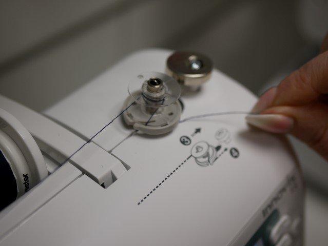 Bobbin winding on a sewing machine
