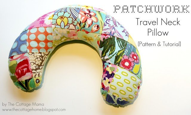 How to sew a neck pillow for traveeling
