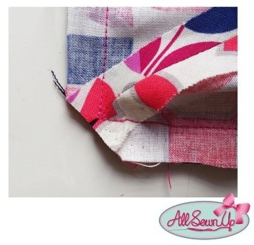 How to trim corners of fabric
