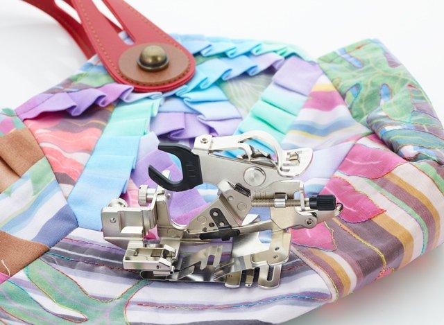 Sew pleats and ruffles
