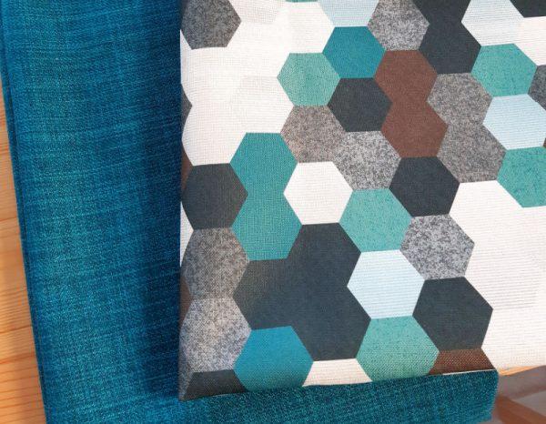Furnishing fabrics for making cushions