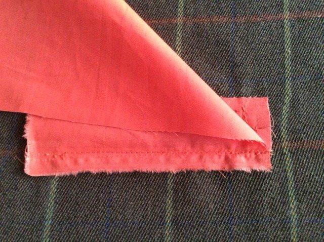 Add a pocket lining
